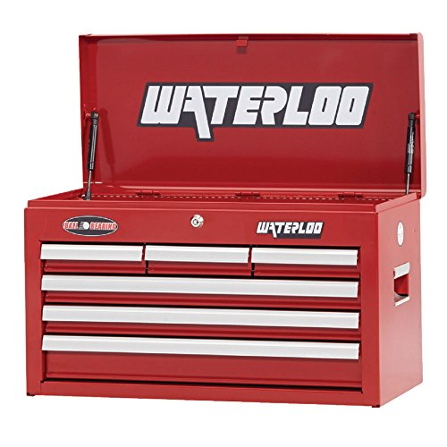 Tool Waterloo - Waterloo WCH-266RD 26 Tool Chest with Ball Bearing Slides, Red