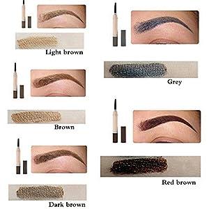 Waterproof Eye Brow Dye Cream Pencil Long Lasting Eyebrow Beauty Makeup Set (Light Brown)