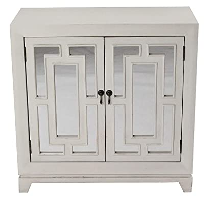 Amazon Com Homeroots Kitchen Cabinet With 2 Hand Carved In Front