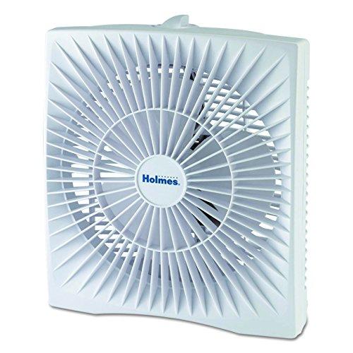 Holmes 10-inch Personal Size Box Fan, HABF120W (Home Window Fan)