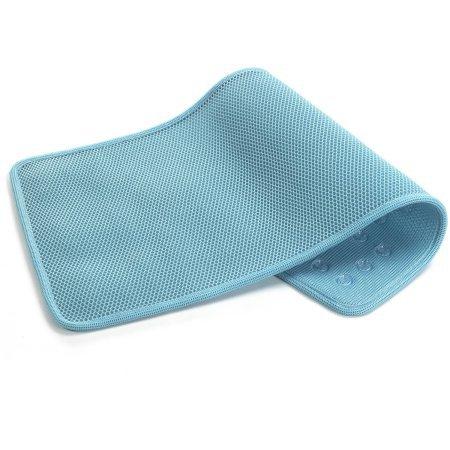 Airia Basics Deluxe Quick-Dry Tub Mat (1, Aqua)