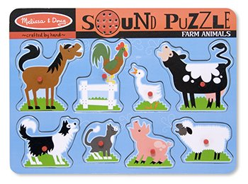 6 Pack MELISSA & DOUG FARM ANIMALS SOUND PUZZLE