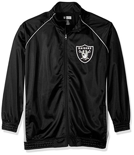 NFL Oakland Raiders Women POLY TRICOT TRACK JACKET, BLK/GRY, (Poly Tricot Jacket)