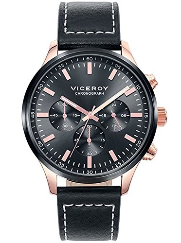 Viceroy 471059-57 watch Chronograph Black Leather Man