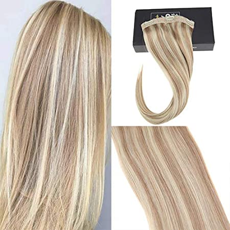 Sunny 16 One Piece Clip In Hair Extensions #2 Darkest Brown Mixed #6 Medium Brown Silky Straight Remy Human Hair Extension Clip In Hair Extensions With 5 Clips 70g ltd
