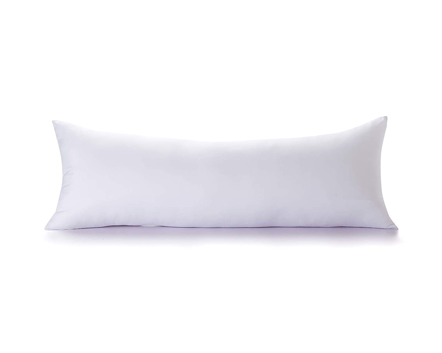 Acanva Soft Body Pillow Hypoallergenic Long Bed Sleeping Insert for Side Sleepers, 20x72, White