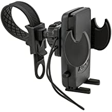 ARKON Smartphone Bike Motorcycle Strap Mount for iPhone 5 5S, Galaxy S5/S4, Note 3, HTC One, LG G3 G2 - Retail Packaging - Black