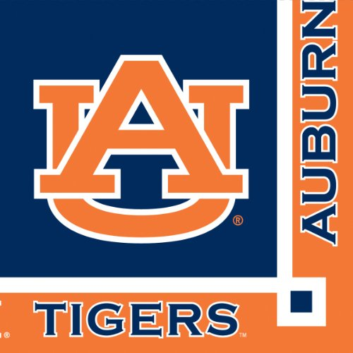 Auburn Tigers Beverage Napkins, 20-Count