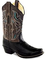 Old West Womens Embroidered Cowgirl Boot Square Toe - 18008