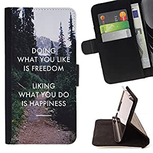 Momo Phone Case / Flip Funda de Cuero Case Cover - Libertad Gusto Do Felicidad Inspiring - Samsung Galaxy Note 5 5th N9200