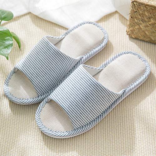 Femmes Chaussures Pantoufles Navy Rayures Black Domicile Lin Blue À color 42 Lanta Japonaises Hommes Pour Coton En Home 41 Size Et 4I7F7q