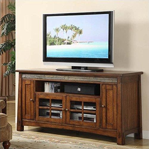 Riverside Furniture Craftsman Home 62 Inch TV Stand in Americana Oak