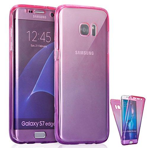 Slim Shockproof Case for Samsung Galaxy S6 Edge (Pink) - 9
