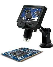 """KKmoon Digital Microscopio Hd 3.6 Mega Pixel con 1080P / 720P / Vga G600Portátil 1-600X 4.3"""" Monitor Pantalla Lcd Vídeo Cámara Grabadora Amplio Uso Incorporado Recargable Litio Batería Eu Enchufe"""