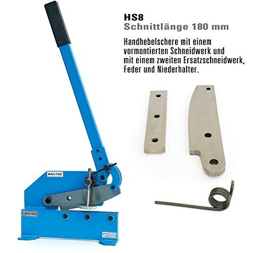Handhebelschere Hebelschere Blechschere Schlagschere Schnittlänge 180mm (Messerlänge 200 mm ) Metallschere