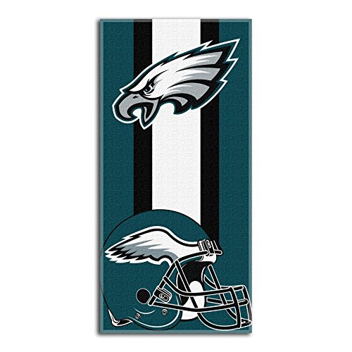 Gift Philadelphia Eagles - The Northwest Company NFL Philadelphia Eagles Zone Read Beach Towel, Green, 30'' x 60''