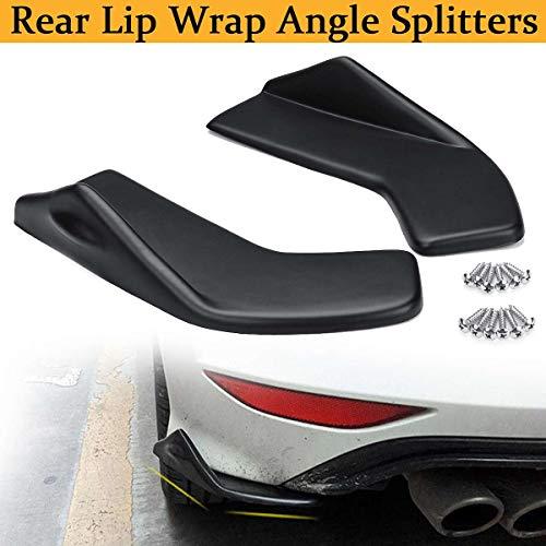 - 2pcs Black Universal Car Rear Bumper Lip Wrap Splitters Side Skirt Extensions Scratch Guard Protection