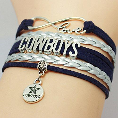 infinity-navy-blue-silver-white-gray-customize-sports-team-fans-bracelet-love-nfl-dallas-state-cowbo
