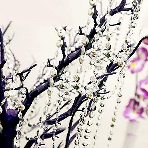 Mikash 10 Yards Crystal Like Garland with Iridescent Beads Wedding Centerpiece Sale   Model WDDNGDCRTN - 12587  