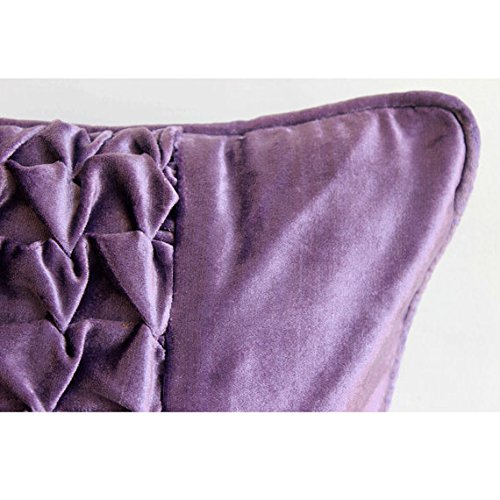 Solid Purple Decorative Pillows : Designer Purple Throw Pillows Cover, Modern Solid Throw Pillows Cover, 12