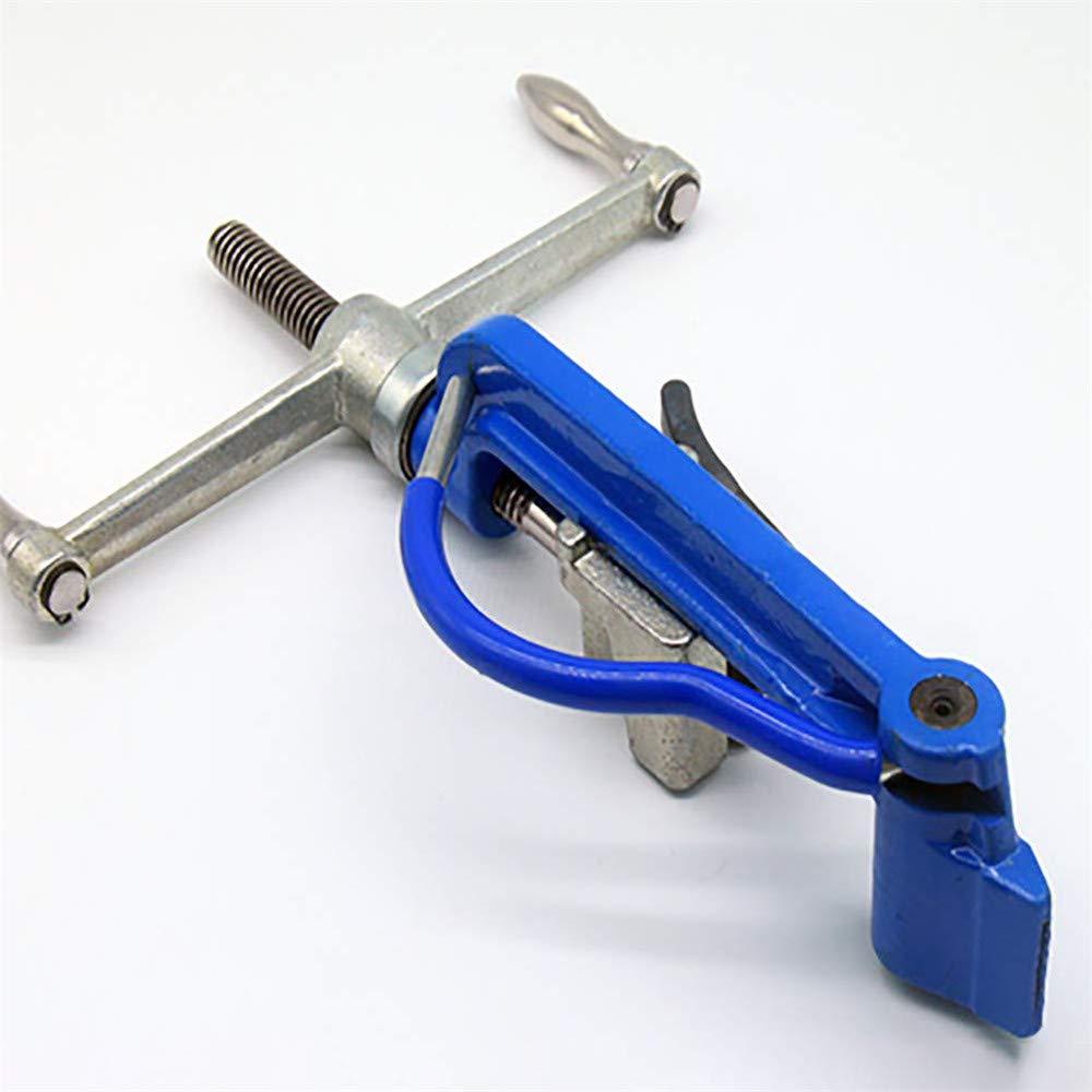 Upgrade Bander Tensioner 4YANG Outils de baguage Tendeur de banderole pour cercler tendeur et pince /à engrenages Outil de tension dacier inoxydable Attaches de c/âble Tension Coupe Fixation