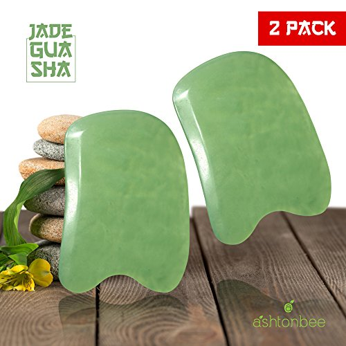 Jade-Gua-Sha-From-Ashtonbee-2-Pack-Massage-Tools-Beautiful-Hand-Made-Friction-Reduced-Traditional-Chinese-Scrubbing-for-Therapeutic-Relief-and-Skin-Renewal-Start-Scrubbing-Now