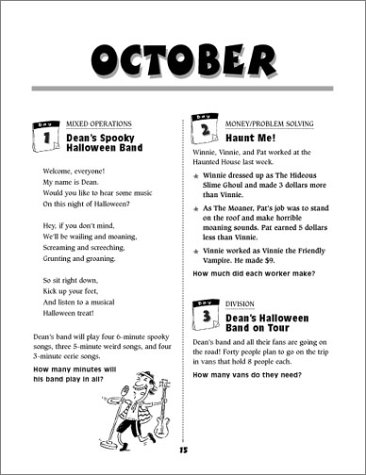 Counting Number worksheets halloween sequencing worksheets : Amazon.com: 200 Super-Fun, Super-Fast Math Story Problems Math ...