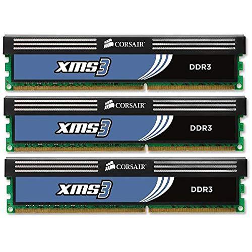CORSAIR CMX6GX3M3A1600C9 XMS3 6GB (3x2GB) DDR3 1600 MHz (PC3 12800) Desktop Memory 1.65V