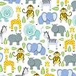 Jillson Roberts Printed Baby Shower Tissue, Zoo, 24-Sheet Count