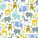 Jillson Roberts 24 Sheet-Count Premium Printed Tissue Paper Available in 15 Different Designs, Baby Shower Zoo