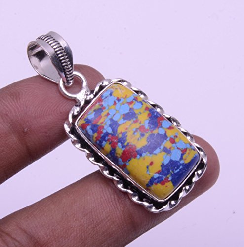 Nimbark Spiritual Jewelry Gorgeous Mosaic Jasper Handmade Jewelry Pendant 2''
