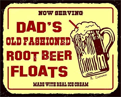 (Dads Root Beer Floats Vintage Diner Retro Tin Soda Vintage Look Metal Signs)