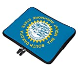 South Dakota State Flag 12 Inch Protective Laptop