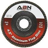 "ABN 4.5"" x 7/8 T27 40 Grit Aluminum Oxide Flat Flap Disc Grinding Sanding Sandpaper Wheels 5 Pack"