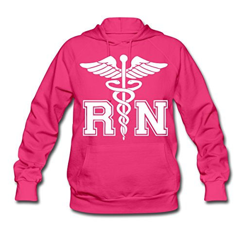 RN Registered Nurse Rod Asclepius Women's Hoodie by Spreadshirt, L, fuchsia