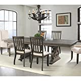 Cheap Picket House Furnishings Elements Stanford Dining Table in Dark Ash