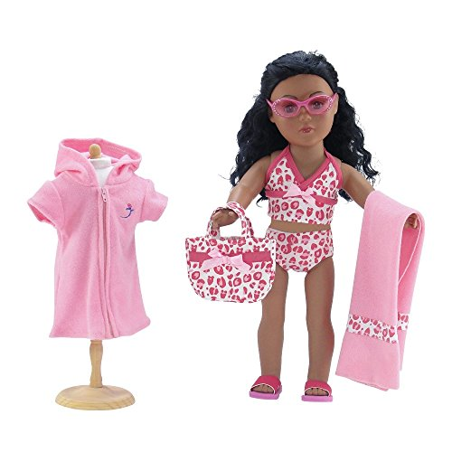 Doll Clothes Swimsuit Matching Sunglasses product image