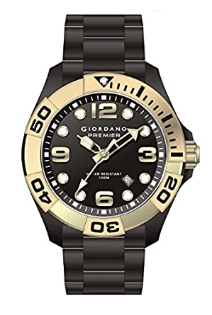 Giordano Analog Black Dial Men's Watch - P156-44