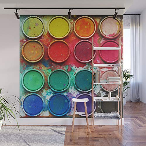 Fabric Paintbox (Society6 Wall Mural, 8' X 8', Paintbox Color Palette by alifart)