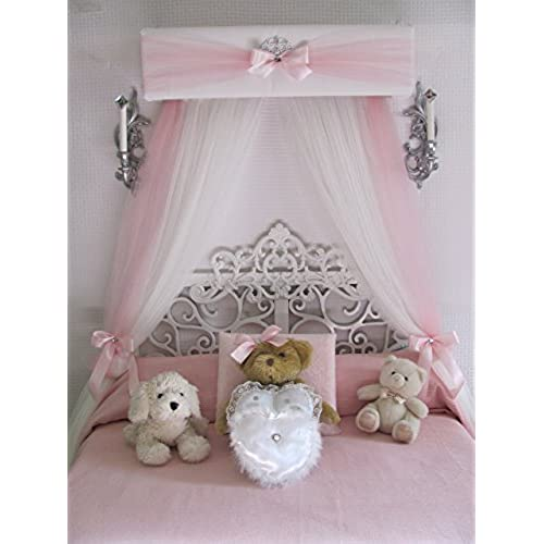 Crib canopy Nursery cornice BED teester FULL Twin Queen 30 inch White Pink Padded Tiara Crown Silver or GOLD So Zoey Boutique Sale Princess Bedroom Decor  sc 1 st  Amazon.com & Crown Canopy: Amazon.com