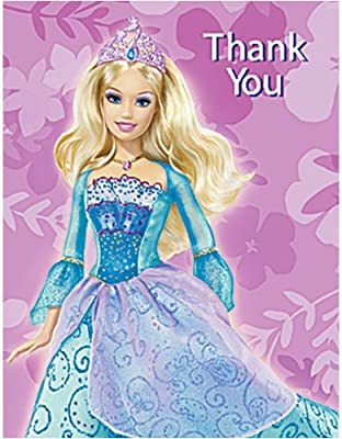 Barbie Island Princess Thank You Notes