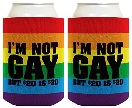 Funny Beer Coolie I'm Not Gay