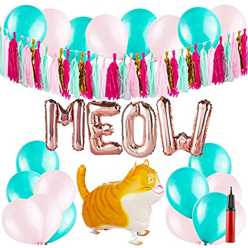 Cat Party Supplies - Kitty Themed Birthday Decorations - Kitten Decor