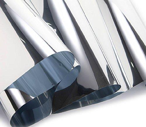 24 X78 Chrome Mirror Silver Vinyl Wrap Sticker Decal