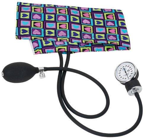 Prestige Medical S82 Premium Aneroid Sphygmomanometer, Four Square Hearts