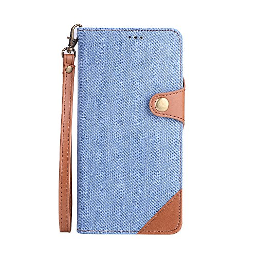 ung Galaxy Note 8,Slim 2 in 1 PU Leather Flip Protective Cover with Card Slots for Note 8 (Light Blue, Samsung Galaxy Note 8) ()