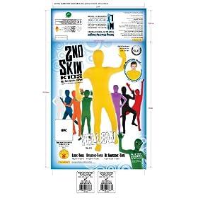 - 517R4BIiOLL - Rubie's Child's Yellow Second Skin Suit, Medium