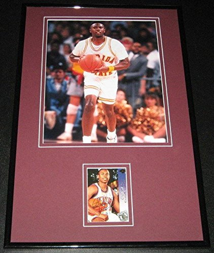 Charlie Ward Signed Framed Rookie Card & Photo Set Heisman Florida State FSU - Autographed College Cards -