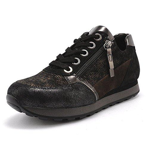 de Gabor S schw nougatk mujer cordones York Zapatos s para 8rvnwE78q
