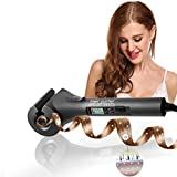 ACEVIVI Ceramic Hair Curler Automatic Curling Iron Irons Wand Curls Professional Curl Styling Machine with LCD Black
